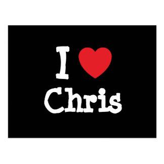 Amo el personalizado del corazón de Chris Postales
