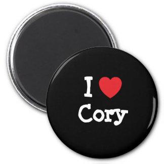 Amo el personalizado del corazón de Cory personali Imán De Frigorifico