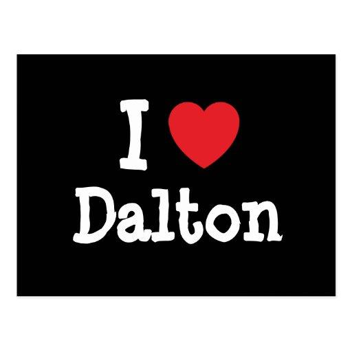 Amo el personalizado del corazón de Dalton persona Tarjetas Postales