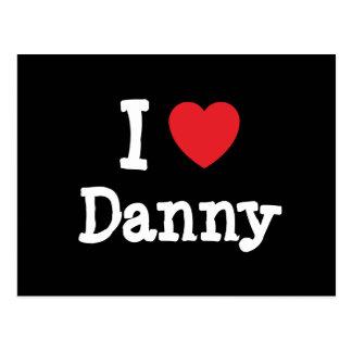 Amo el personalizado del corazón de Danny personal Postal