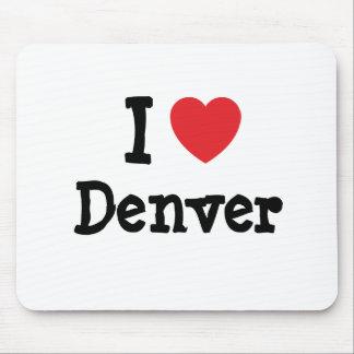 Amo el personalizado del corazón de Denver persona Tapetes De Ratón
