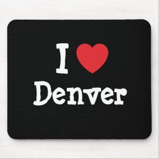 Amo el personalizado del corazón de Denver persona Tapetes De Ratones