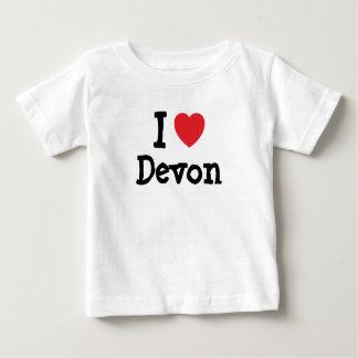 Amo el personalizado del corazón de Devon Playeras