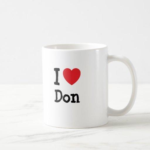 Amo el personalizado del corazón de Don Taza Básica Blanca