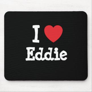 Amo el personalizado del corazón de Eddie personal Tapetes De Ratón
