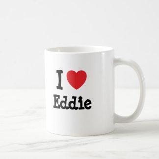 Amo el personalizado del corazón de Eddie personal Taza Básica Blanca