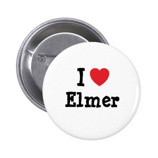Amo el personalizado del corazón de Elmer personal Pin Redondo 5 Cm