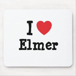 Amo el personalizado del corazón de Elmer personal Alfombrillas De Raton