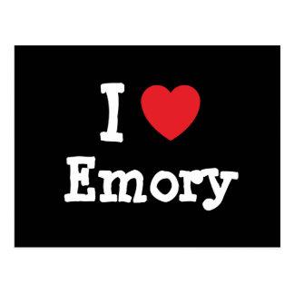 Amo el personalizado del corazón de Emory personal Postal