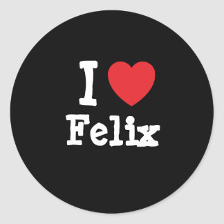 Amo el personalizado del corazón de Felix personal Pegatina