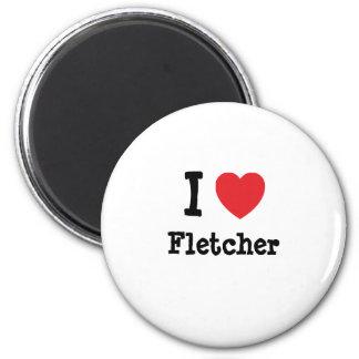 Amo el personalizado del corazón de Fletcher perso Imán Redondo 5 Cm