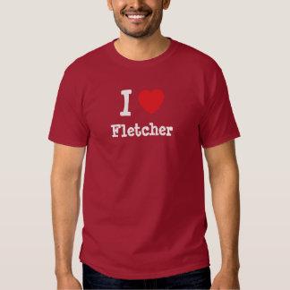 Amo el personalizado del corazón de Fletcher Playera