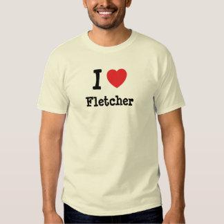 Amo el personalizado del corazón de Fletcher Playeras