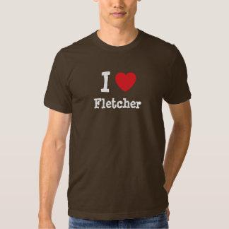 Amo el personalizado del corazón de Fletcher Poleras