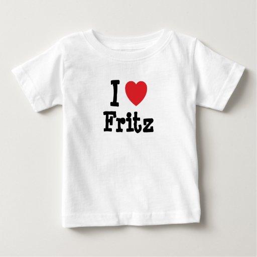 Amo el personalizado del corazón de Fritz Camiseta