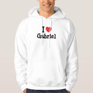 Amo el personalizado del corazón de Gabriel Sudaderas