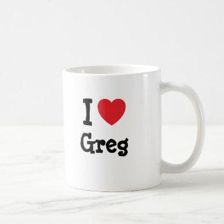 Amo el personalizado del corazón de Greg Taza Clásica