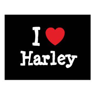 Amo el personalizado del corazón de Harley persona Postales