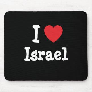 Amo el personalizado del corazón de Israel persona Alfombrilla De Raton