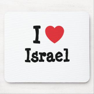 Amo el personalizado del corazón de Israel persona Tapete De Ratones