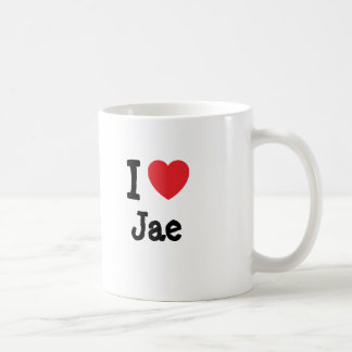 Amo el personalizado del corazón de Jae personaliz Taza De Café