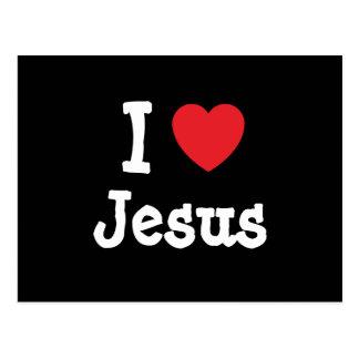Amo el personalizado del corazón de Jesús personal Postales