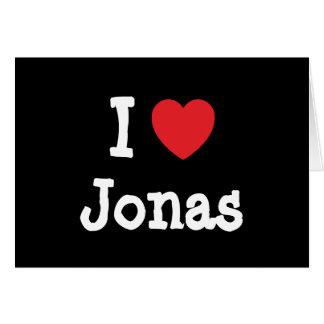 Amo el personalizado del corazón de Jonas personal Tarjeta