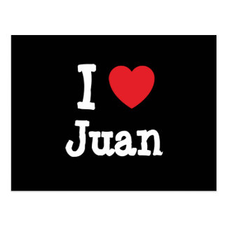 Amo el personalizado del corazón de Juan Postal