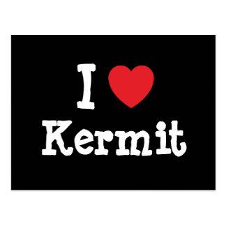 Amo el personalizado del corazón de Kermit Postal