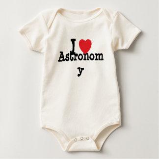 Amo el personalizado del corazón de la astronomía body para bebé