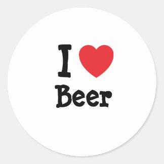 Amo el personalizado del corazón de la cerveza per etiquetas