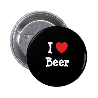 Amo el personalizado del corazón de la cerveza per pin redondo 5 cm