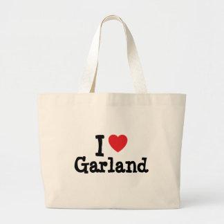 Amo el personalizado del corazón de la guirnalda p bolsas