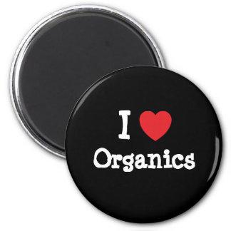 Amo el personalizado del corazón de la materia org imán