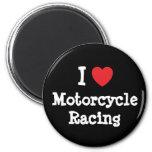 Amo el personalizado del corazón de la motocicleta iman de frigorífico
