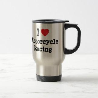 Amo el personalizado del corazón de la motocicleta taza de viaje