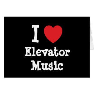 Amo el personalizado del corazón de la música del  tarjetón