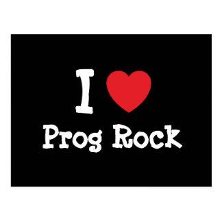 Amo el personalizado del corazón de la roca de tarjeta postal
