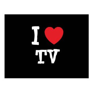 Amo el personalizado del corazón de la TV Postales