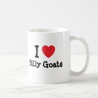 Amo el personalizado del corazón de las cabras de  taza