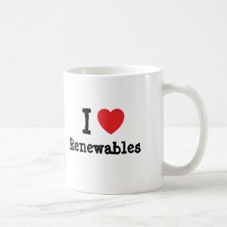 Amo el personalizado del corazón de las energías r tazas de café