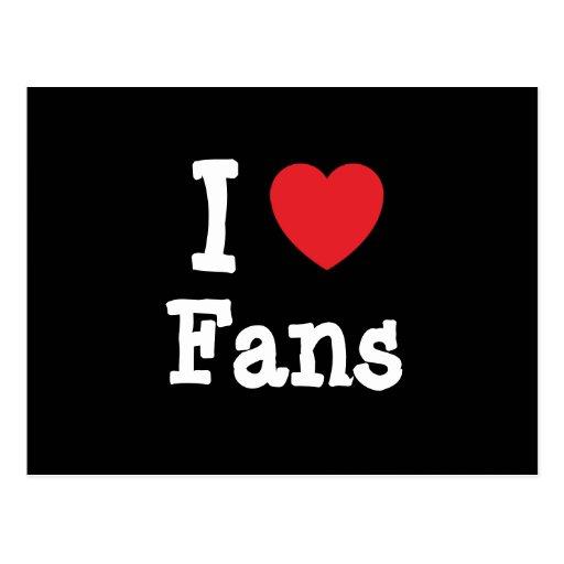 Amo el personalizado del corazón de las fans perso tarjetas postales