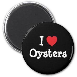 Amo el personalizado del corazón de las ostras per imán redondo 5 cm
