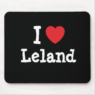 Amo el personalizado del corazón de Leland persona Tapete De Raton