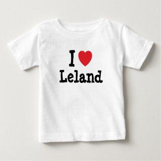 Amo el personalizado del corazón de Leland Camisetas