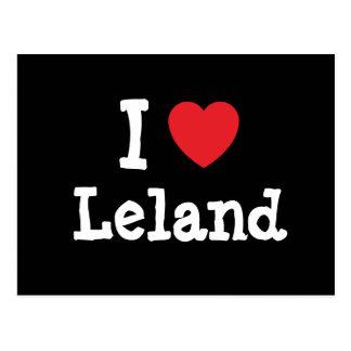 Amo el personalizado del corazón de Leland Postal