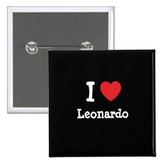 Amo el personalizado del corazón de Leonardo perso Pin