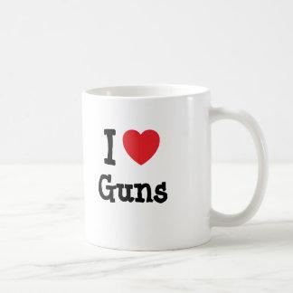 Amo el personalizado del corazón de los armas pers tazas de café