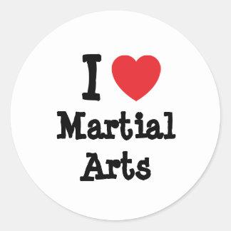 Amo el personalizado del corazón de los artes marc etiquetas