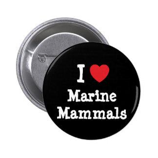 Amo el personalizado del corazón de los mamíferos  pins